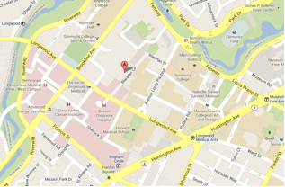 map showing location of center for life sciences building